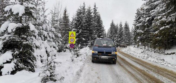 La nivelul județului Cluj circulația se desfășoară în condiții de iarnă