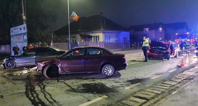 Foto. Accident grav in județul Cluj! 3 mașini implicate