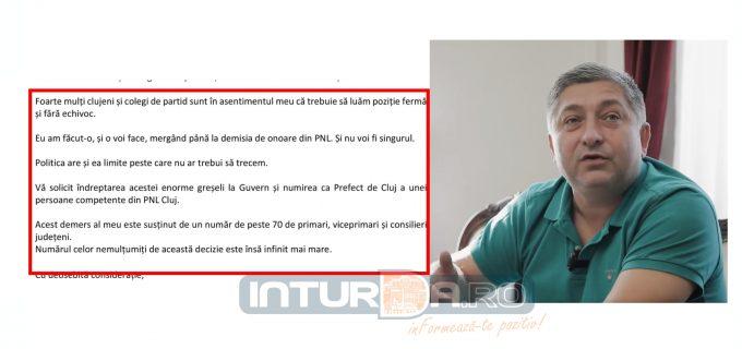 Alin Tișe, scrisoare către Orban: PNL Cluj nu acceptă numirea prefectului de la UDMR. Voi merge până la demisia din PNL