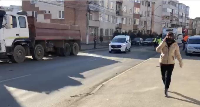 VIDEO: Accident pe strada Rațiu din muncipiul Turda
