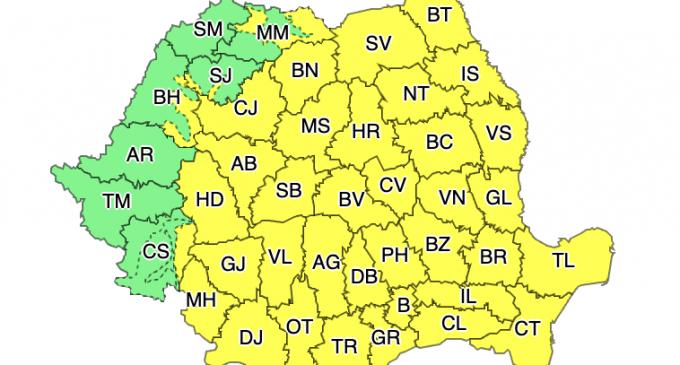 Atenționare meteorologică – Ninsori și strat consistent de zăpadă la munte și în Transilvania