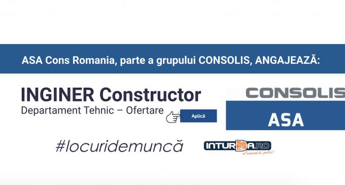 ASA Cons ANGAJEAZĂ Inginer Constructor Departament Tehnic – Ofertare