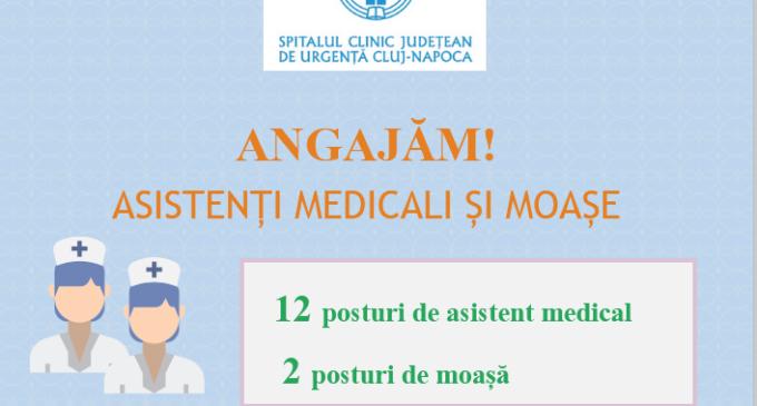 Spitalul Clinic Județean de Urgență: ANGAJĂM Asistenți medicali și moașe