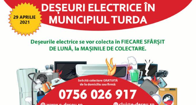 Acțiune de colectare gratuită a deșeurilor electrice în municipiul Turda