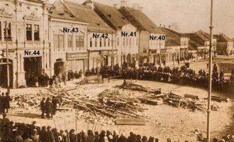 FOTO – Imagini de la o explozie de gaz din Turda, anul 1917