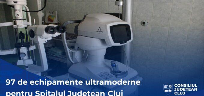 CJ Cluj: 100 de noi aparaturi medicale ultramoderne pentru Spitalul Județean de Urgență