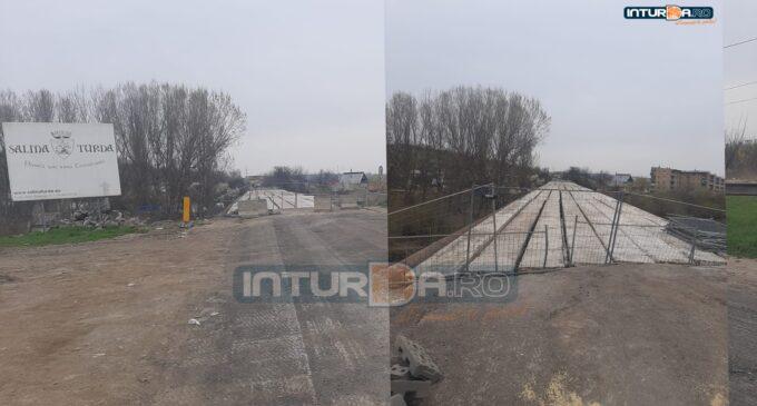 Situația lucrărilor la podul peste Arieș din municipiul Turda