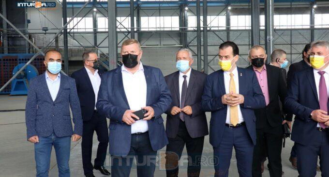 Foto/Video: Președintele Camerei Deputaților, Ludovic Orban, vizită la fabrica Berg Banat din Câmpia Turzii