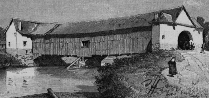 Muzeul de Istorie Turda: una dintre cele mai ingenioase construcţii de lemn din Turda a fost podul de peste Arieș