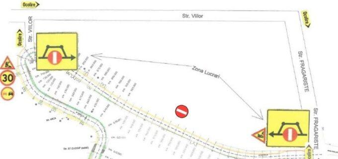 Primăria Turda: acces auto restricționat pe sectorul str. Castanilor – str. Mărului