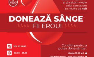O nouă campanie de donare sânge în Turda!  Donează sânge, fii erou!