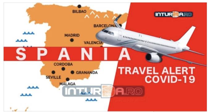Condiții de călătorie în SPANIA – Aeroportul Internațional Avram Iancu Cluj