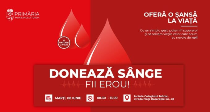 Campanie de donare de sânge la Turda
