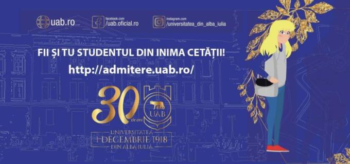 """ADMITERE 2021  UNIVERSITATEA """"1 DECEMBRIE 1918"""" din Alba Iulia –Universitatea din INIMA CETĂȚII MARII UNIRI!"""