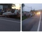 Un șofer s-a răsturnat cu mașina după ce s-a urcat BEAT la volan