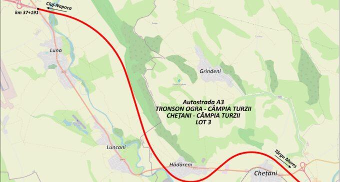 Ministerul Transporturilor a lansat o nouă licitație pentru Autostrada A3 Chețani – Câmpia Turzii