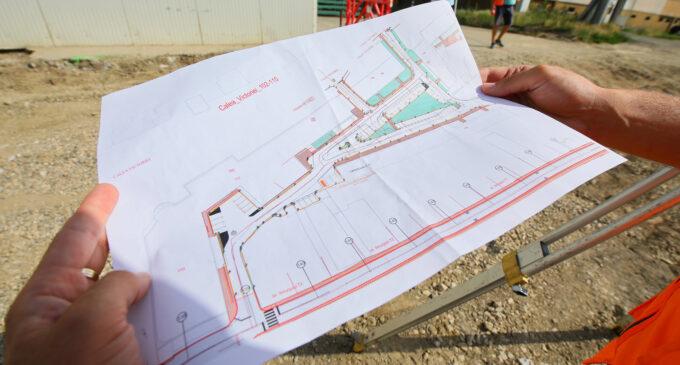 🚧Au început lucrările de amenajare a curții interioare de pe strada Calea Victoriei 102-118