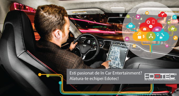 Esti pasionat de gadget-uri auto? –EDOTEC.ROcaută un coleg nou la vânzări!