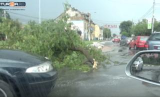 Cod Portocaliu în județul Cluj: vijelii puternice, grindină și averse torențiale