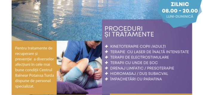 Tratamente de recuperare și prevenție la Complexul Balnear Potaissa