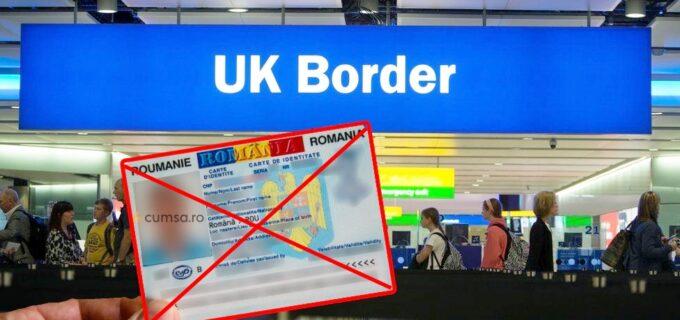 De la 1 octombrie, românii nu mai pot intra în Marea Britanie cu cartea de identitate!