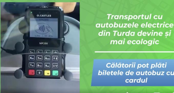 TUP Turda:  Flota celor 20 de autobuze este de astăzi dotată cu un sistem de plată contactless