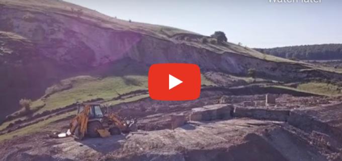 VIDEO Alunecare masivă de teren pe şantierul Autostrăzii Transilvania între Nădăşelu şi Zimbor