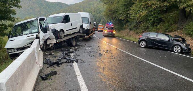 Accident rutier pe DN1 E60 în afara localității Morlaca