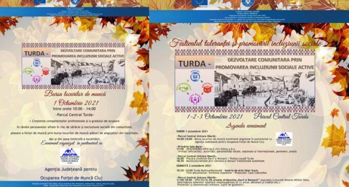 In acest sfarsit de saptamana va avea loc la Turda Festivalul Tolerantei si Promovarii Incluziunii Sociale
