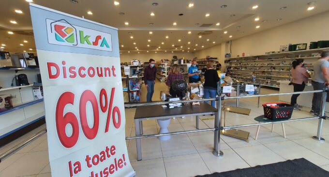 Magazinul KSA Retail Turda – peste 35000 de produse resigilate de pe piețele din vestul Europei cu reducere peste 60%