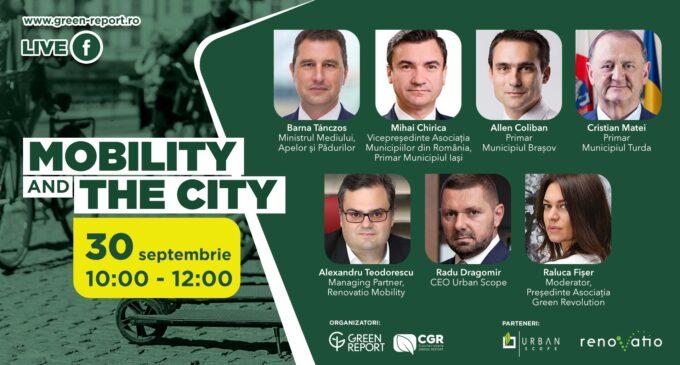 """Primarul municipiului Turda, Matei Cristian, alături de Ministrul Mediului la conferința """"Mobility and the City"""""""