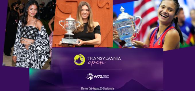 Emma Răducanu, vine la Cluj-Napoca, la Transylvania Open WTA250, alături de Simona Halep, favorita nr. 1