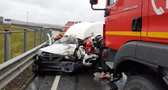 IPJ: Accident rutier produs pe breteaua A3 Turda-Gilău. FOTO