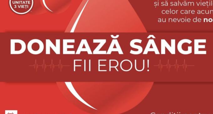 Primaria Turda: 🩸Oferã o şansă la viatã – doneazã sânge!