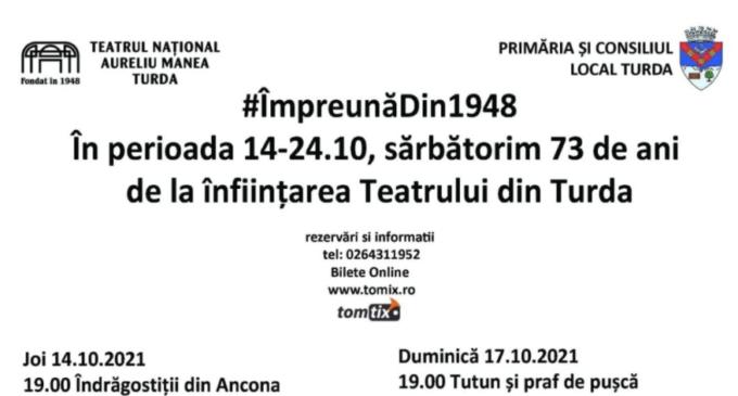 Spectacole aniversare la Turda! În 16 octombrie 1948 se juca pentru prima dată un spectacol pe scena Teatrului din Turda